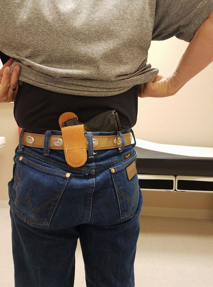 Back Carry Revolver Holster